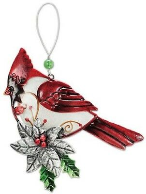 Sunset Vista Designs Glass & Metal Cardinal - Cardinal Ornaments