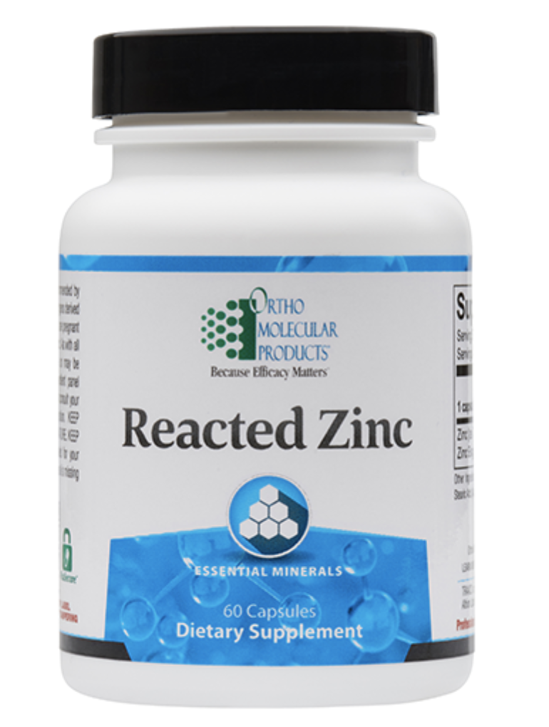 Ortho Molecular- Reacted Zinc 54mg  -60 capsules free shipping ***