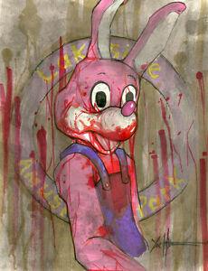 Silent-Hill-Robbie-The-Rabbit-Original-Art-By-Chris-Oz-Fulton-8-5-x-11