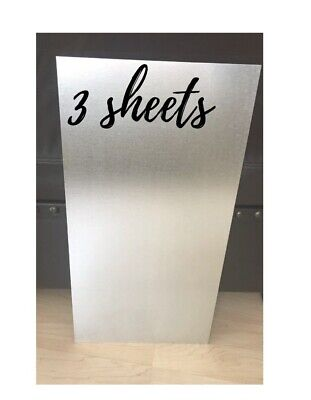 3 Pack M-d Building Products Galvanized 56020 1 2-feet Steel Sheet