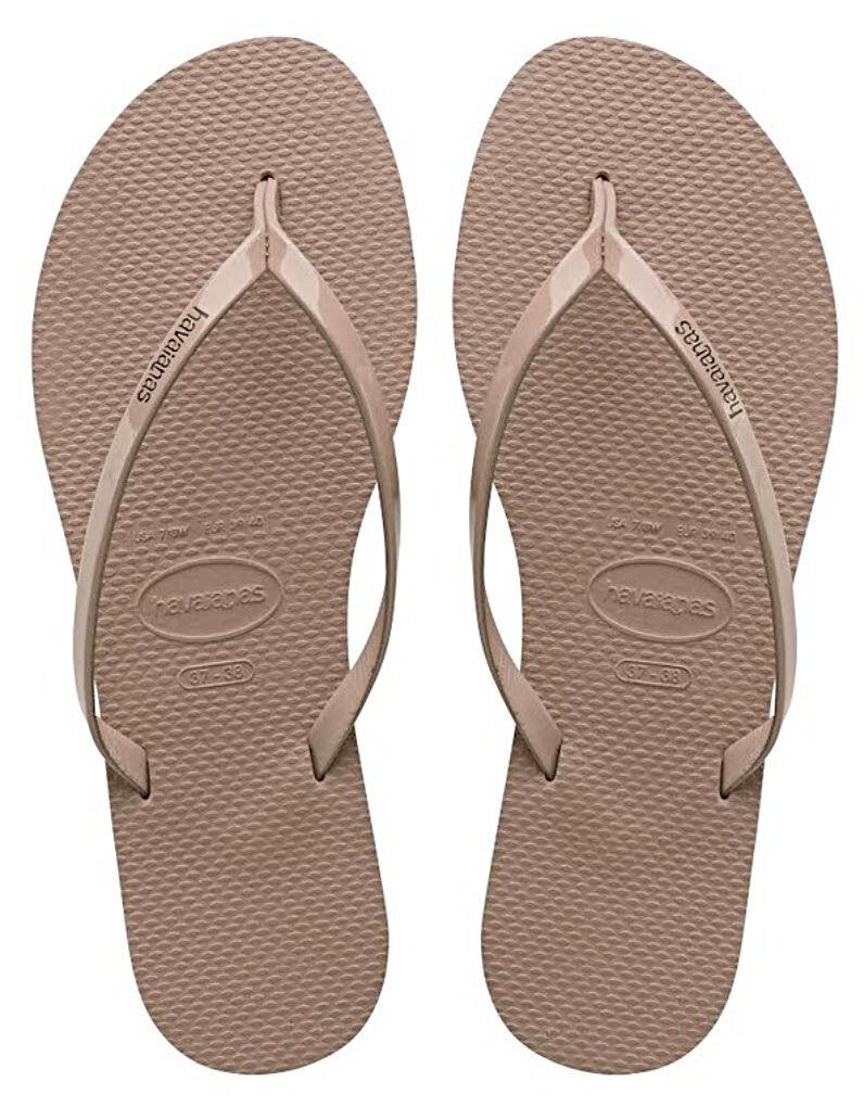 Havaianas Women`s Flip Flops You Metallic Sandals Rose Gold