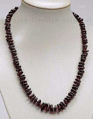 Halskette Collier geknotet Granat Geschenk 1505