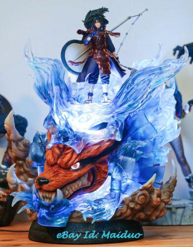 Naruto Uchiha Madara Susanoo Figure Statue Resin LED Lights Not Master
