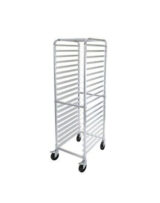 Commercial 20-sheet Pan Rack W 3 Bottom Load Slides And Casters
