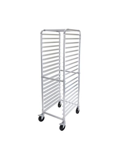 "Commercial 20-Sheet Pan Rack w/ 3"" Bottom Load Slides and casters"