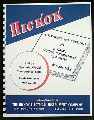 Hickok 532 Dynamic Mutual Conductance Tube Tester Manual
