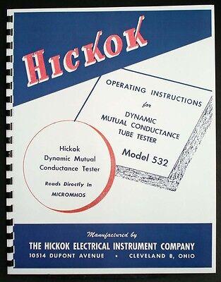 Hickok 532 Dynamic Mutual Conductance Tube Tester Manual
