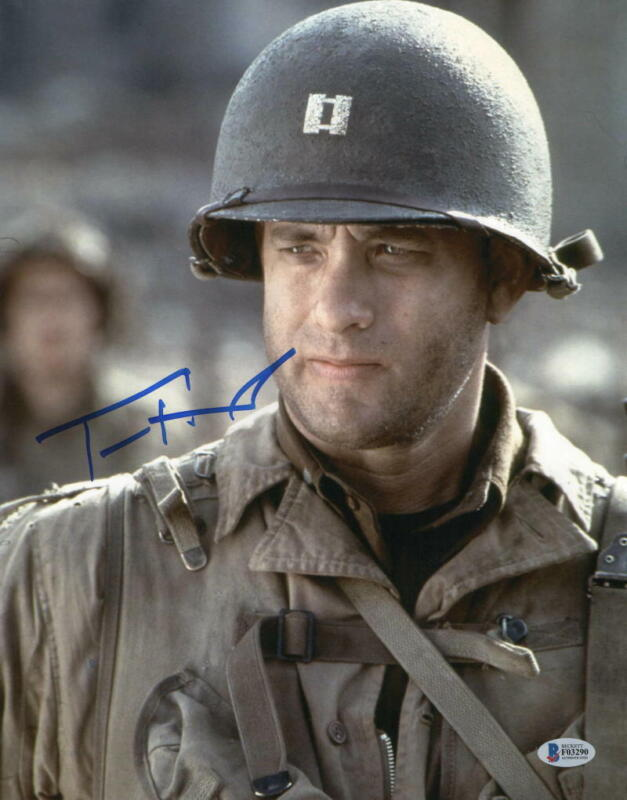 TOM HANKS SIGNED 11X14 PHOTO SAVING PRIVATE RYAN AUTHENTIC AUTOGRAPH BECKETT D
