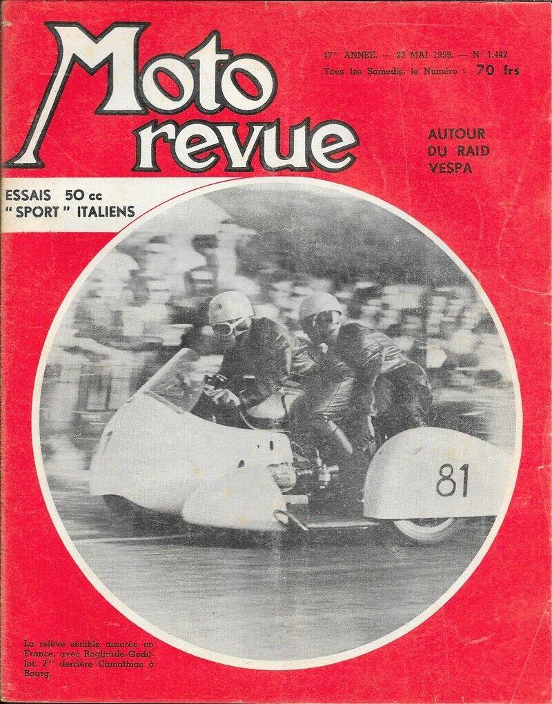 Moto revue . n° 1442 . 23 mai 1959 . essais 50cc sport italiens .