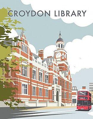 Croydon Library fridge magnet   (se)