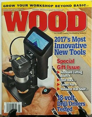 Wood Dec 2016 Jan 2017 Most Innovative New Tools Gift Issue FREE SHIPPING sb
