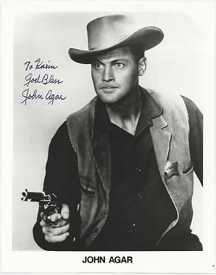 John Agar signed photo