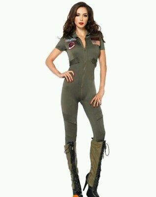 Sexy Damen Kostüm Halloween Fasching Teddy Military M-L