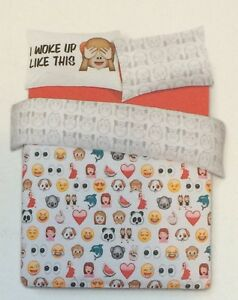 Emoji emoticons bedding pillow case reversible single or - Ropa de cama primark 2017 ...