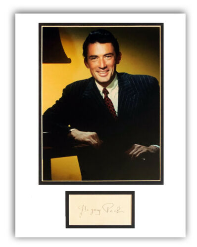 GREGORY PECK Signed/Autograph 11x14 Display ~ To Kill A Mockingbird, Cape Fear