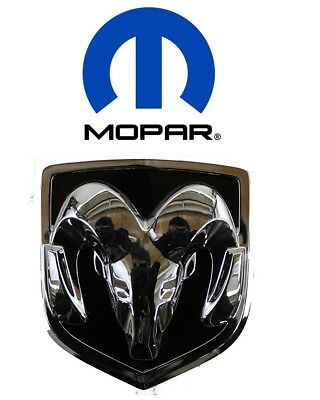 For Dodge Chrome & Black Ram Head Grille Medallion OEM Mopar Brand 4805899AB