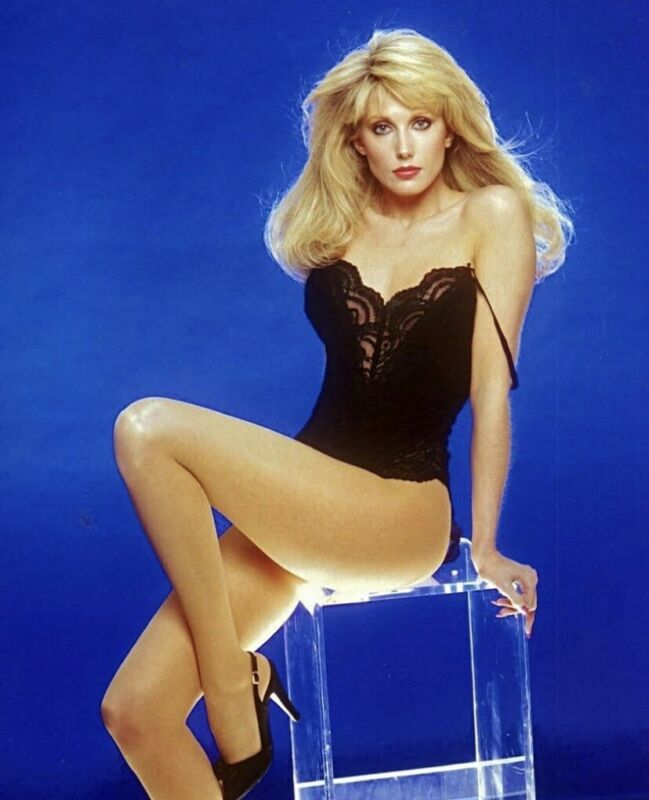 Morgan Fairchild - Looking Awesome In A Black Teddie !!!