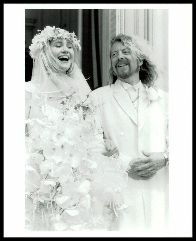 1987 DAVE STEWART & SIOBHAN FAHEY Wedding In France Vintage Original Photo gp
