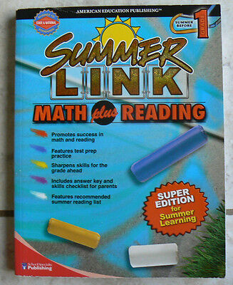 New  Aep Summer Link Before Gr 1 1St Math Plus Reading Huge Colorful Fun