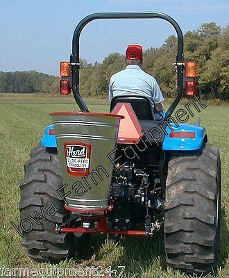 Herd I-92, 2.8Bu Tractor 'Electric 3-Point' Broadcast Seeder,Fertilizer Spreader