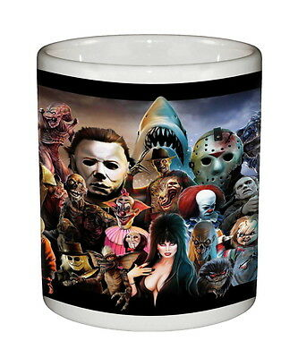 Monster Mania Beverage Coffee Mug Ceramic Tumbler Freddy Jason Chucky Evil Dead