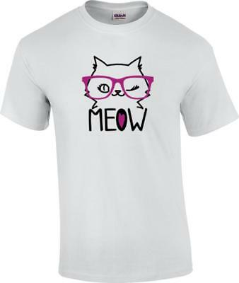 Funny Meow Cat With Sunglasses (Cat With Sunglasses Shirt)