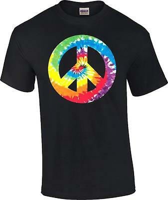Tie Dye Peace Sign 60's 70's T-Shirt - 60s Peace Sign