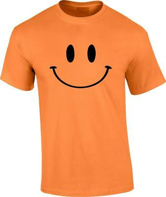 - Funny Retro Smiley Face T-Shirt Happy Humor 70's 80's Tee
