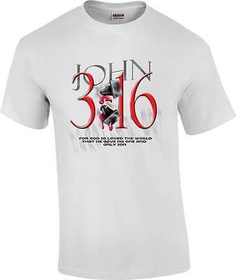 John 3:16 Bible Verse Jesus Christ Religious T-Shirt