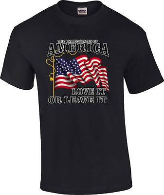 Patriotic United States of America Love It or Leave It US Flag T-Shirt America Flag Patriotic Usa T-shirt