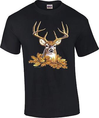Buck Head Deer Face Rack Hunting Hunter T-Shirt - Deer Face