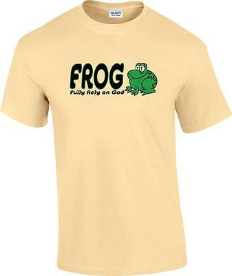 Frog Fully Rely On God (Christian FROG Fully Rely on God Religious)