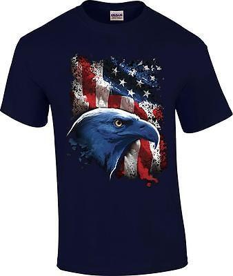 American Icon Bald Eagle US Flag Patriotic T-Shirt