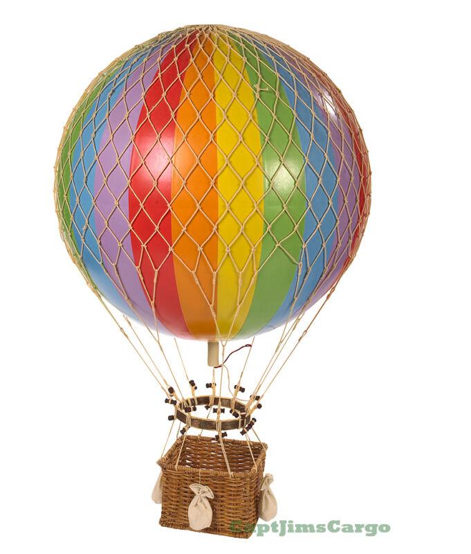 "XL Hot Air Balloon Rainbow 17"" Hanging Aircraft Ceiling Home Decor New"