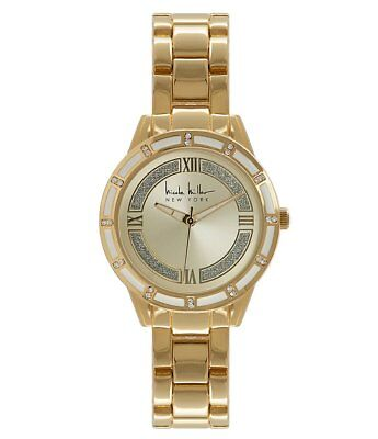 NICOLE MILLER Women's Hamilton Gold Watch NY50264001 NWT