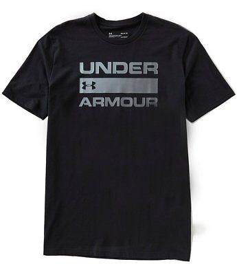 Black Team Issue T-shirt (Under Armour UA Team Issue Wordmark Graphic Logo T-Shirt 1314002 003 Size)