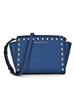 MICHAEL-KORS-Tasche-Umhaengetasche-Selma-Stud-MD-Messenger-Saffiano-steel-blue