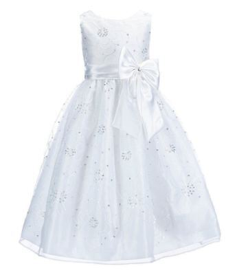 NWT JAYNE COPELAND SEQUIN FLORAL DRESS 6 X/7  FLOWER GIRL FIRST HOLY COMMUNION  - First Holy Communion Dress