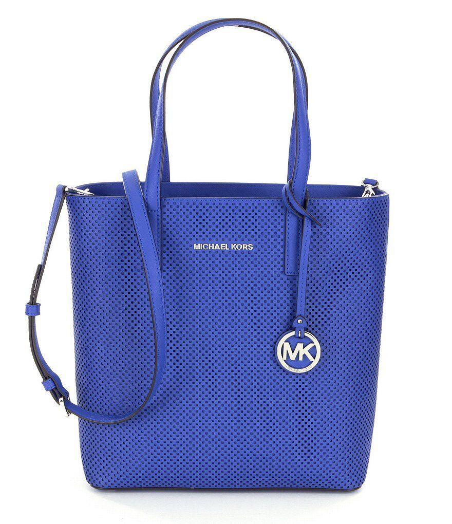 Michael Kors Hayley Medium North South NS Perforated Leather
