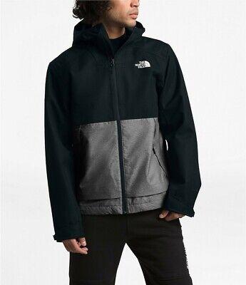 NWT The NORTH FACE MILLERTON Dryvent Waterproof Hooded Rain Jacket Black 2XL XXL