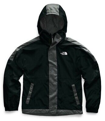 NWT The North Face Yung Blade Windwall Men's Wind Rain Jacket Black Grey XXL 2XL