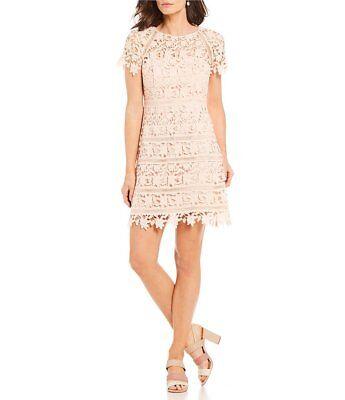 Neu mit Etiketten Eliza J Häkel Spitzen-Overlay Kleid Größe 12
