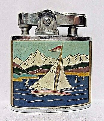 Vintage 1950's  Roland Lighter, Swizterland, Sailboat, Working Condition, Japan
