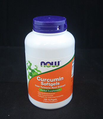 Now Curcumin Softgels From Turmeric Root Extract 120 Softgel Exp 6 19