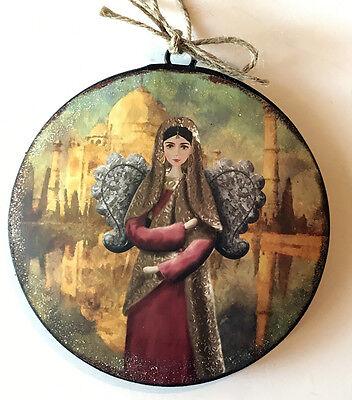 Angel Disc Christmas Tree Ornament International Holiday Decor](International Christmas Decorations)