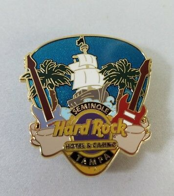Seminole Hard Rock Hotel Casino Tampa Pirate Ship Galleon Guitar Pick Pin