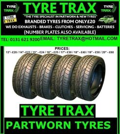 ★TYRE TRAX ★ AMAZING TYRES AMAZING PRICES + ALL BRANDED +FROM ONLY £20 + CALL US TODAY 0131 261 9200