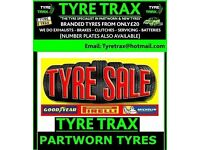 ★TYRE TRAX ★ PART WORN TYRES AVAILABLE FROM £20 BRANDED FITTING & BALANCING ★ FITTED WHILE U WAIT!