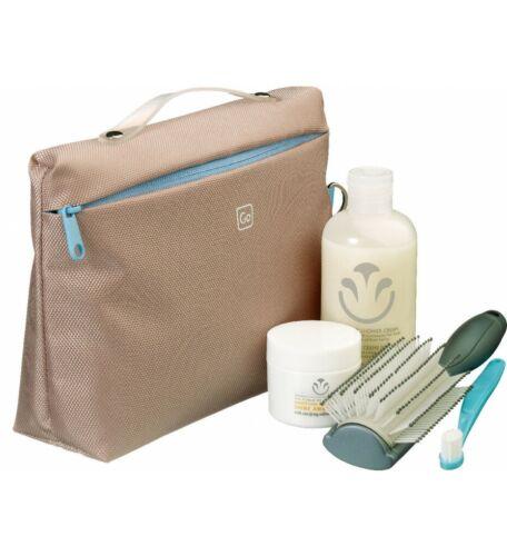 Go Travel E7 Flexible Hygieneartikel Kosmetik mit Taschen 648be Beige