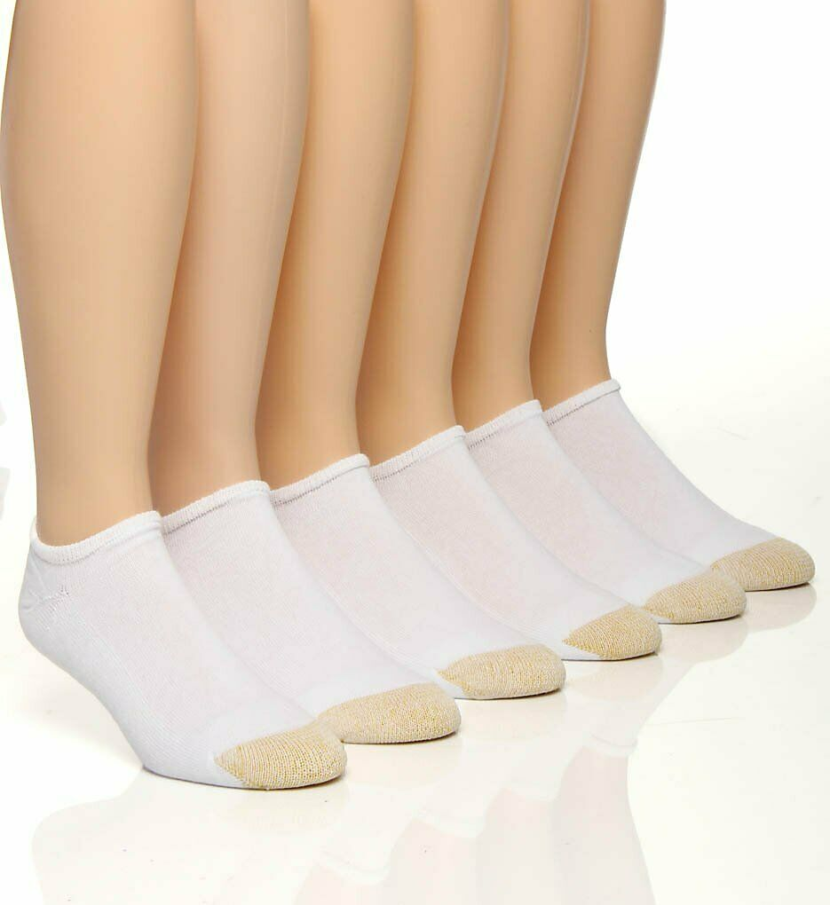 Gold Toe Men's White Cotton No Show Athletic Sock 6 pair – Sock Size 10-13 Clothing, Shoes & Accessories